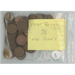 70 Great Britain New Penny Coins