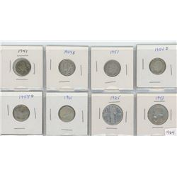 8 United States Silver Coins - 6-Dimes & 2-Quarter Dollars
