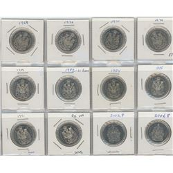 12 Canadian Nickel Fifty Cent Coins