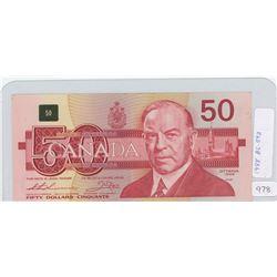 1988 Canadian Fifty Dollar Bill