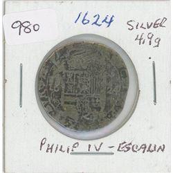 1624 Silver Spanish Netherlands Artois Escalin