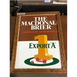 """23""""x18"""" """"The Macdonli brier"""" Picture Wooden Frame"""