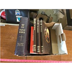 """lot of 5 books """"the old west"""" + holy bible + """"amoral America"""