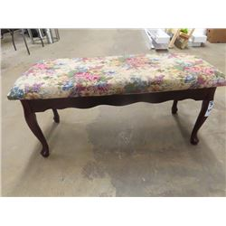"""Tapestry Bench 17""""H 36""""W 14"""" D"""