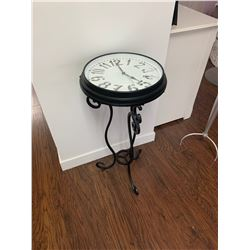 """Wrought Iron Clock Stand 326""""H 16"""" RD"""