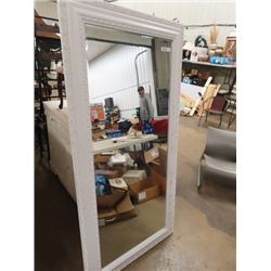 "Bevelled Mirror w Detailed Frame 71""H  35""W"