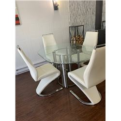 """Table & 4 Chairs 40"""" x 56"""""""