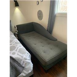 Dark Grey Chaise Lounger