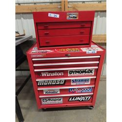 Tool Cabinet W (Not Matching) Top & Bottom 9 Drawers Combined