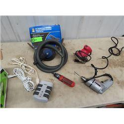 2 Palm Sander- 1 Is Orbit, Power Dril, Power Bar & Ext Cord