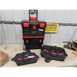 Roll Away B & D Tool Box, 2 Jobmate Tool Bags