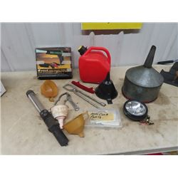 Timing Light Funnels, Gas Can, Carb Kit, & Specialty Tools