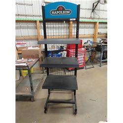 "Store Portable Shelf-Adjustable 2 Sided, Shelves 72""H 24""W"