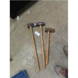 Sledge Hammer, Splitting Axe, Handled Wedge