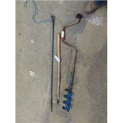 Log Turner, Trapping Ice Spear, & Hard Ice Auger