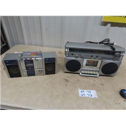 2 JVC AM/FM Cassette Player, & Toshiba AM/FM Cassette Player