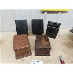 5 Vintage Wooden Phone Boxes