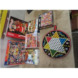 Chinese Checkers, 5-1000 Pc Puzzles, & 1 550 Pc Puzzle