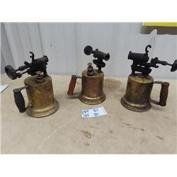 3 Blow Torches - Vintage