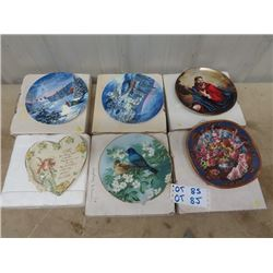 6 Collector Plates w Certificates & Boxes