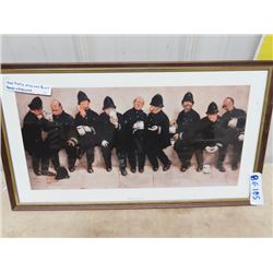"""Framed Picture - 9 Pints of The Law - 15"""" x 25"""""""