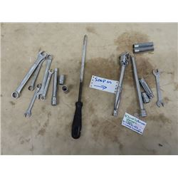"""Snap on 1/2"""" Ratchet, 2 Ext & 3 Sockets, & More Wrenches & Sockets- Various Brands"""