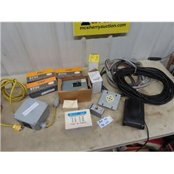 Electrical Switches, Plugs, Wire, Transformers, Plus More