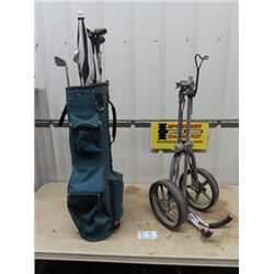 Golf Clubs- Left Handed Bag Cart & Caddy