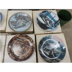 12 Wolf Collectible Plates - All w Boxes & Certificates