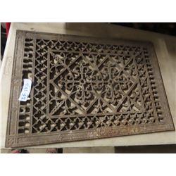 "Large Ornate Cast Grate 18"" X 27"""