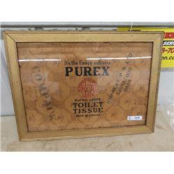 """Purex Cardboard Framed Adv 23"""" x 21"""