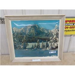 "CN Framed Scenery Picture of Jasper 24"" X 88"""