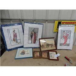 Fashion Pictures, Needlepoint, & Painting