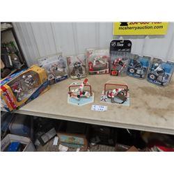9 Hockey Figurines, 7 In Package