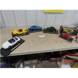 6 Die Cast Cars- 1 is Missing Rear Wheels