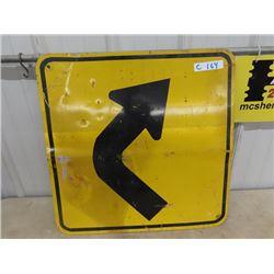 Metal Curves Traffic Sign