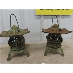 Cast Candle Holders- Good for Yard