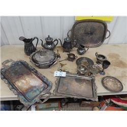 Silverware Tray, Teapot, Pitcher, C & S Plus More!