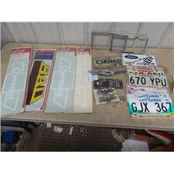 Chrome Auto Emblems, License Plates, Auto Put On Stickers