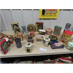 Approx 26 Various Household Tins, Many Modern, Some are Vintage