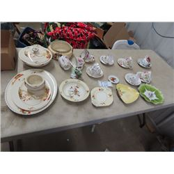 China Cups & Saucers, Dishes, Tray, Covered Dish Plus More!