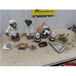 Cement Monkey Nurse Ornaments, Ornaments, Star Fish Ornament, Ashtray & More!