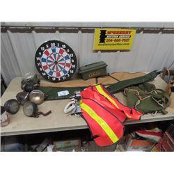 2 Soft Gun Cases, Hunting Vest, Back Pack, Sealed Lights & More