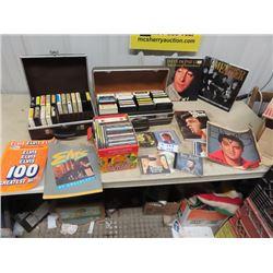 """Music CD""""s, 8 Tracks, John Lennon Book, & Elvis Books"""
