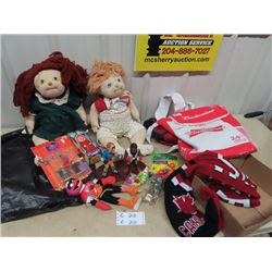 Muppet Stuffy Figurines, Wrestling Figurines, Dol Budweiser Carry On  Plus More!