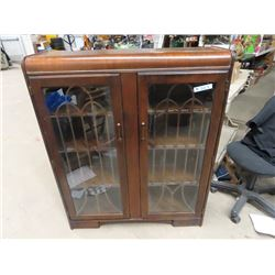 "Walnut 2 Door China Cabinet 48""H 39""W 12""D"