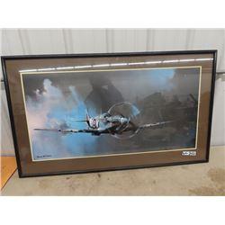 "Miiiltary Fighter Plane Print 28"" x 48"" - Barrie A.F. Clark"