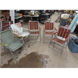 5 Folding Lawn Chairs