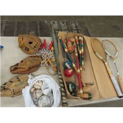 Croquet Set, Baseball Gloves, Exercise Equipement Plus More!