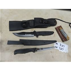 New Smith & Wesson Hunting Knife, Filleting Knife, & Buck Knife
